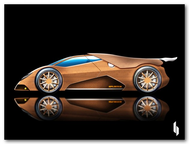 Real Supercar Made Of Wood Herbeat