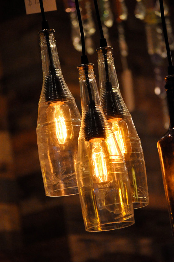 25 creative do it yourself ideas herbeat for Lamps made out of wine bottles