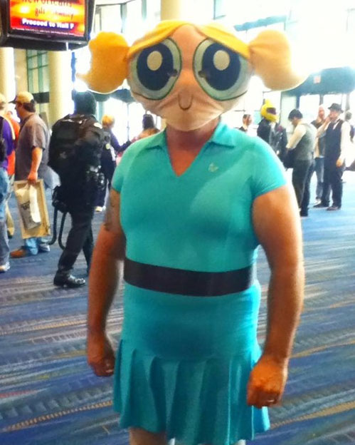 The guy donning this Powerpuff Girls costume has more than guts as we can obviously see. I think they refer to what he has as u0027ballsu0027 in which case he is ... & 10 Worst Cosplay Costumes Ever - Page 4 of 6 - Herbeat