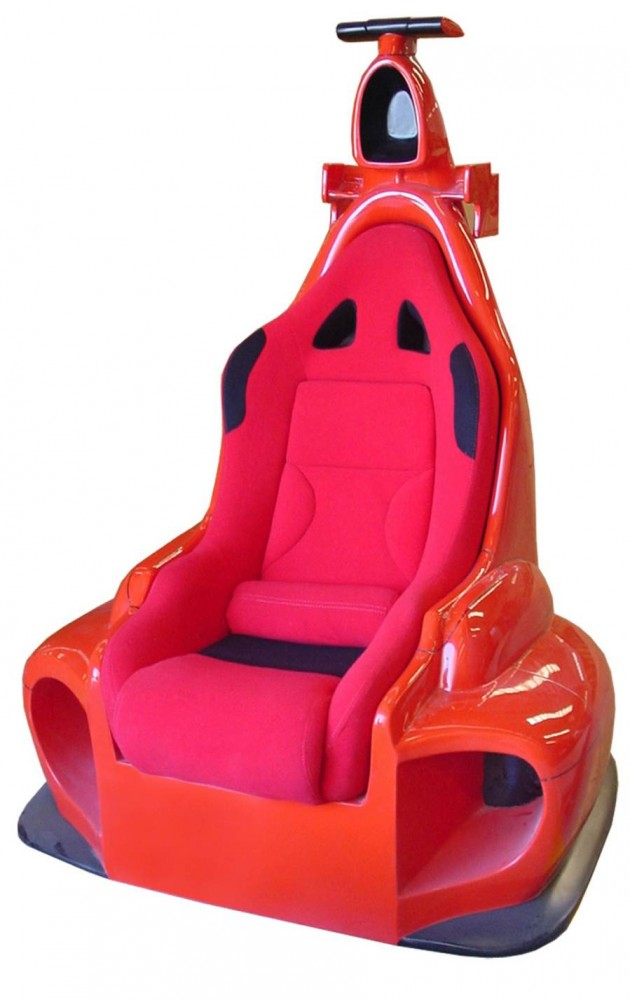 This Chair Is Modeled After The Ferrari F1 Automobile Not Only It A Lounger Owner Can Also Fit With Speakers And Video Gaming Console